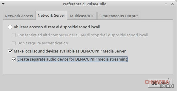 PulseAudio DLNA alternativo