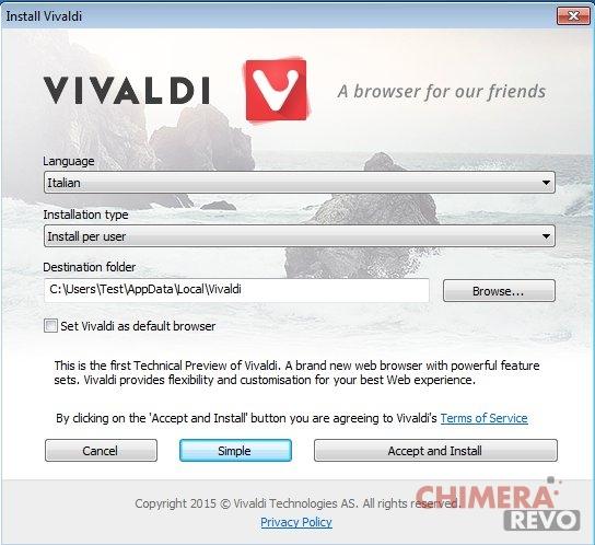 Vivaldi installer 2