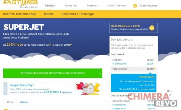 Fastweb sito