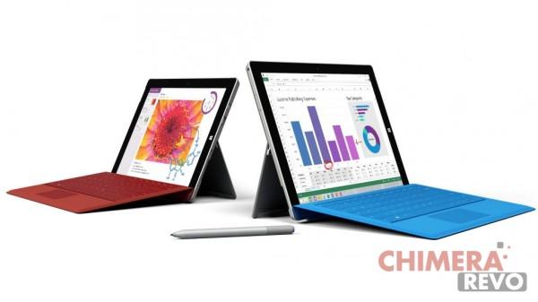 Surface 3 e Surface Pro 3