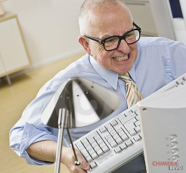 conv Uomo arrabbiato al PC