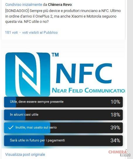 Smartphone senza NFC