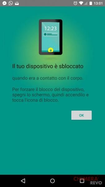 rilevamento del contatto con il corpo - Android - (2)
