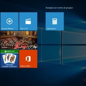 start screen gruppi tile