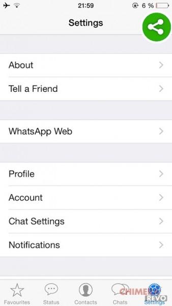 WhatsApp web con iPhone